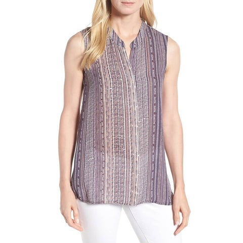 Nic + Zoe Purple Women's Size Small S Printed Tank Cami Top