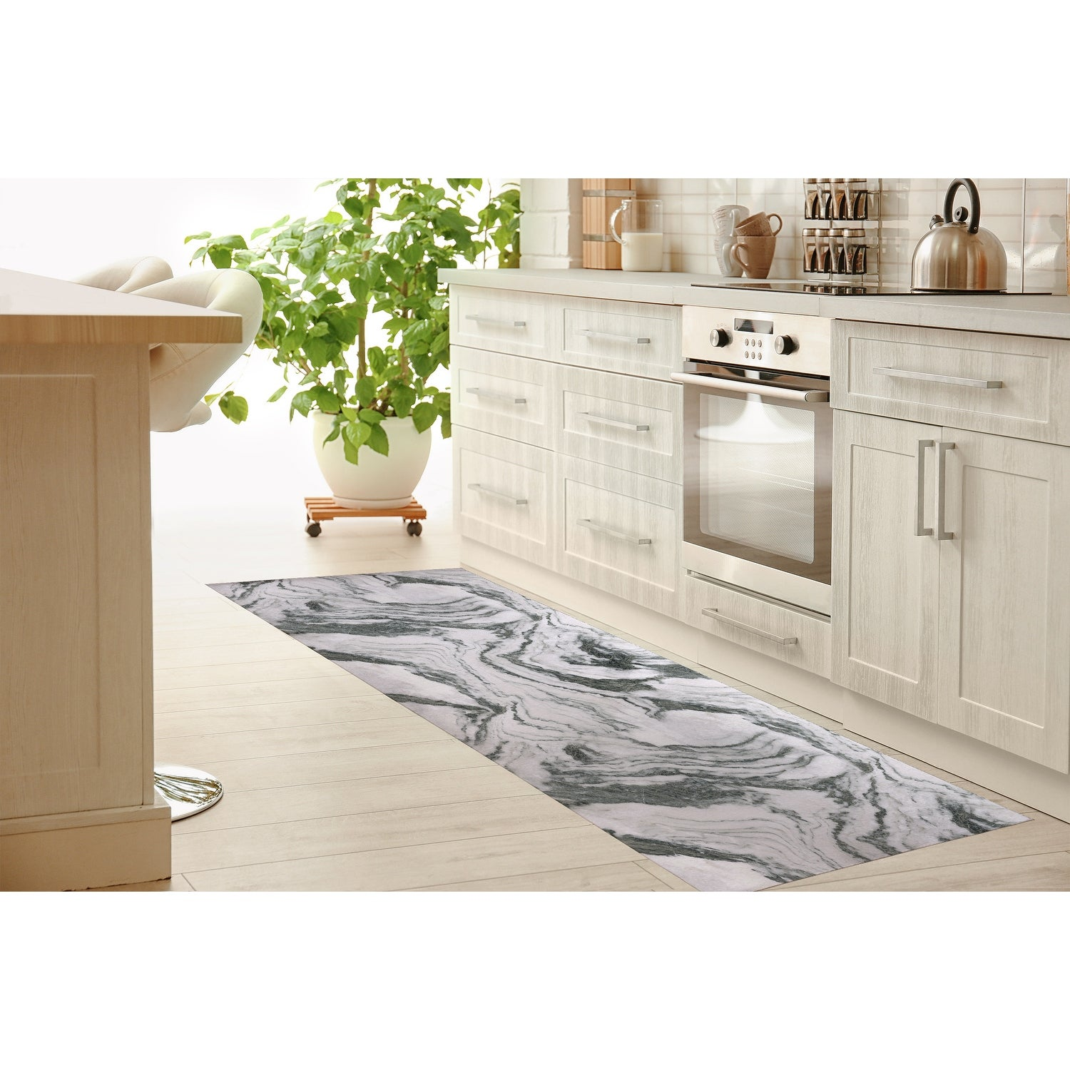 Marble Kitchen Mat By Kavka Designs On Sale Overstock 30586513