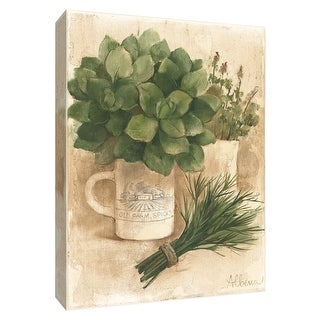 "PTM Images 9-154403  PTM Canvas Collection 10"" x 8"" - ""Farm Herbs I"" Giclee Herbs & Spices Art Print on Canvas"