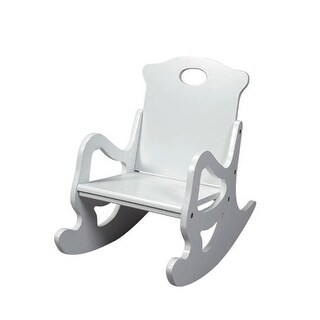 Giftmark 1467W Child s Secured Solid Puzzle Rocking Chair White