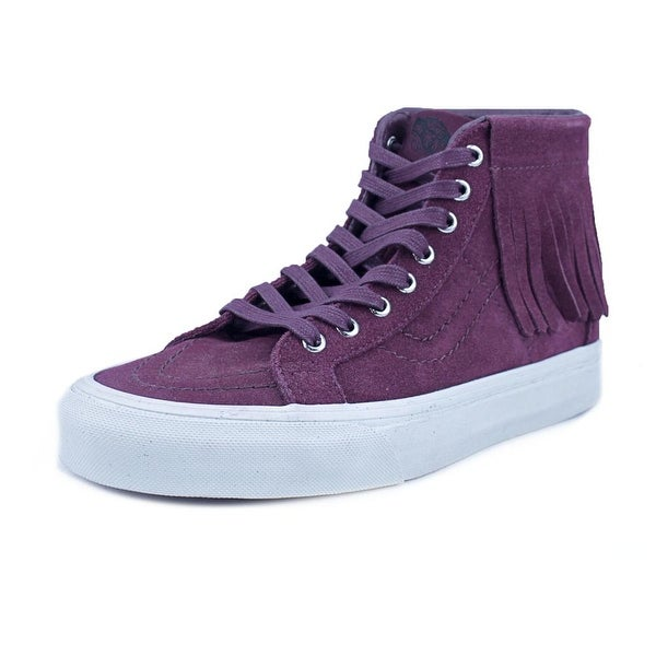2907e9db87f Shop Vans SK8 Hi Moc Women Round Toe Suede Burgundy Sneakers - Free ...