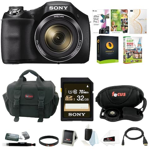 Sony Cyber-shot H300 Digital Camera Kit Bundled with Imaging Software