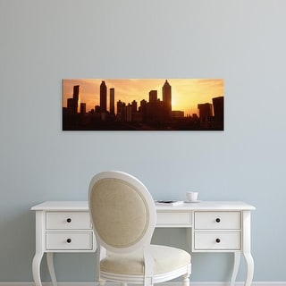 Easy Art Prints Panoramic Images's 'Sunset Skyline, Atlanta, Georgia, USA' Premium Canvas Art