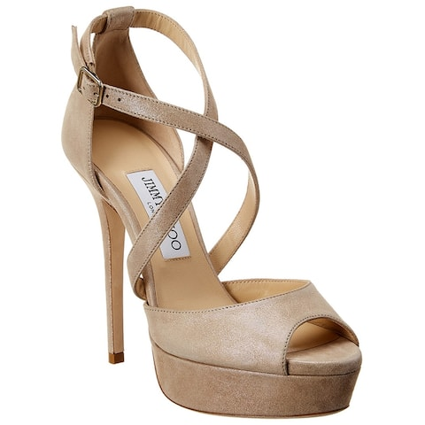 Jimmy Choo Jenique 125 Suede Platform Sandal