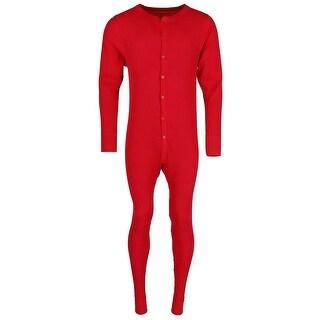 Hanes Men's Waffle Weave Thermal Union Suit