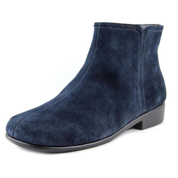 Aerosoles Duble Trouble Women Square Toe Suede Blue Ankle Boot