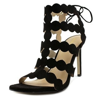 BCBGeneration Chiko Women  Open Toe Canvas Black Sandals