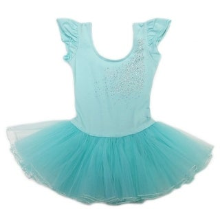 Wenchoice Girls Mint Rhinestone Bow Accent Tutu Ballet Dress