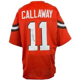 Antonio Callaway Signed Orange Pro Style Custom Football Jersey JSA