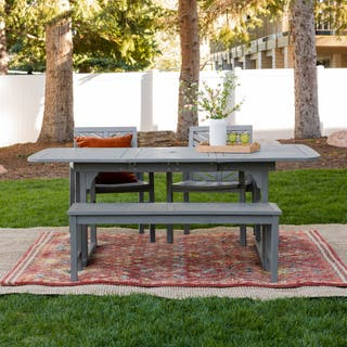 Hydaburg 4-Piece Outdoor Extension Dining Set