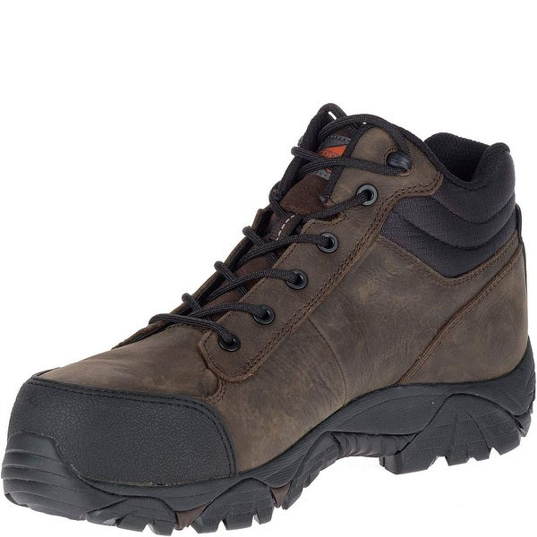Merrell Men Moab Rover Mid Waterproof Comp Toe Work Boot Wide Width