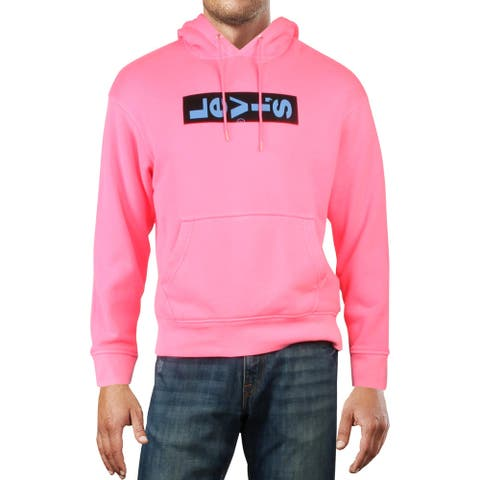 Levi's Mens Hoodie Logo Oversided - Pink