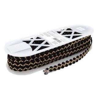"Black & Gold - Simplicity Metallic Novelty Braid .625""X12yd"