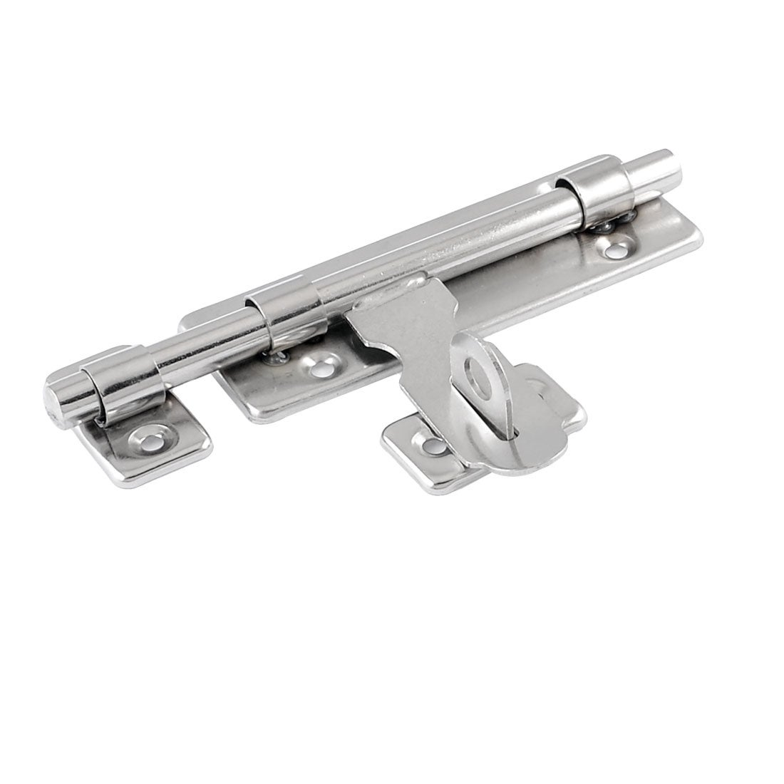 Unique Bargains Stainless Steel Door Lock Latch Slide Barrel Bolt Clasp Set 5.3 Long