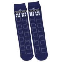 Doctor Who TARDIS Full Cushion Slipper Socks with Treads
