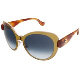 Balenciaga BA0002S 45W Mustard Gold/Blonde Havana Round sunglasses