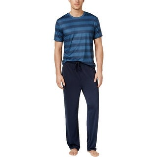 Weatherproof Mens Pajama Set Crew Neck Short Sleeves - XL