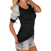 Women Loose Casual Button Blouse T Shirt Tank Tops