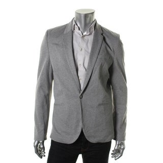 Zara Mens Heathered Notch Collar One-Button Blazer - XXL