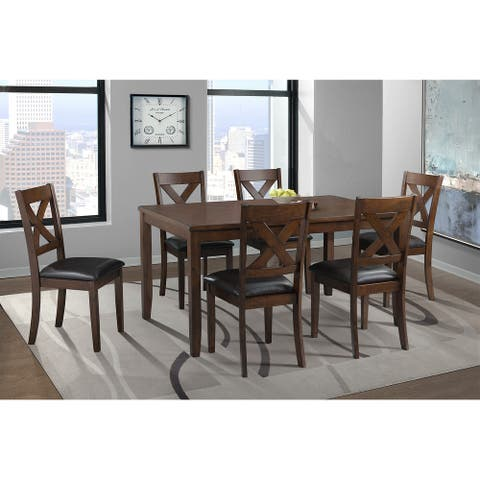 Picket House Furnishings Alexa Standard Height Side Chair Set in Cherry