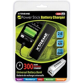 2600mAhMetallic Battery BankCarabinerBlk
