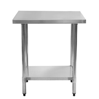 Gymax Commercial Kitchen Work Food Prep Table Stainless Steel