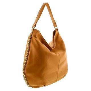 HS2015 VOLETA Tan Leather Hobo Shoulder Bag