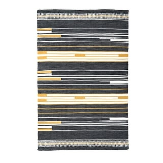 Link to Handwoven, Indoor Outdoor Stain Resistant Rug - Austin - Black Multi - 5' x 8' - 5' x 8' Similar Items in Rugs