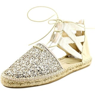 Charles David Sunshine Women Round Toe Canvas Gold Espadrille