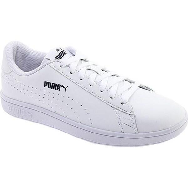 14eb6e8185fa PUMA Men  x27 s Smash V2 Perforated Leather Sneaker PUMA White PUMA White