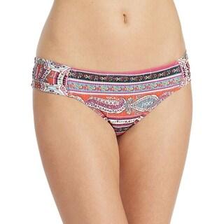 Lucky Brand NEW Pink Women's Size Small S Ruched Bikini Bottom Swiwmear