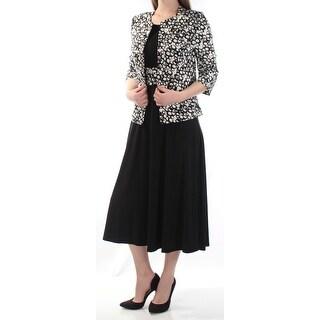 JESSICA HOWARD $99 Womens New 1134 Black W/ Jacket Fit + Flare Dress 6 B+B