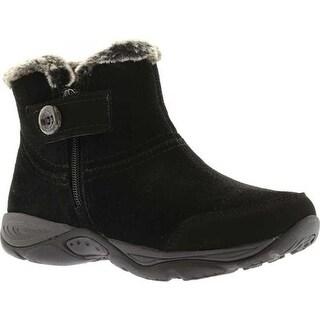 Easy Spirit Women's Eliria Ankle Boot Black Suede