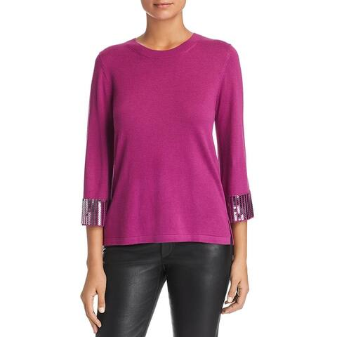 Le Gali Isabella Women's Sequined Three Quarter Sleeve Pullover Sweater