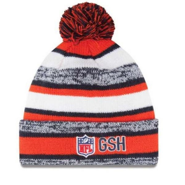 c6b00cf93 New Era Chicago Bears NFL Stocking Knit Hat Winter Beanie On Field Pom  11008762