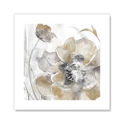 Taupe Spring Poppy I - Brown