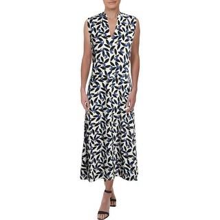 Anne Klein Womens Casual Dress A-Line Midi