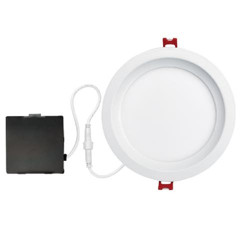 "Globe 91220 LED Recessed Slim Glare Control Downlight Kit, Frost, 6"" W"