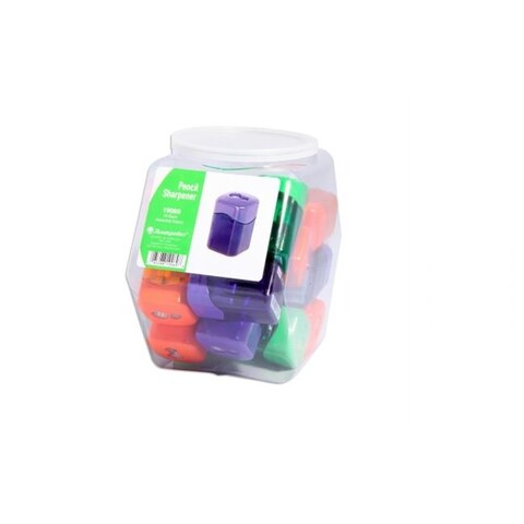 Pencil Sharpeners Wave Dual Hole Hexagonal Tub Display of 15 ASSORTE