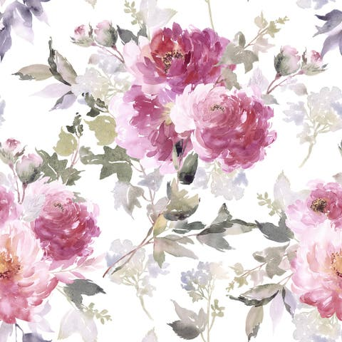 Hartous Floral Removable Wallpaper - 10'ft H x 24''inch W