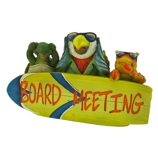 Tropical Paradise `Board Meeting` Plaque - YELLOW
