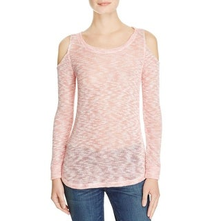 Splendid Womens Pullover Sweater Cold Shoulder Heathered