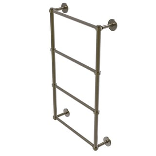 Allied Brass Prestige Skyline Collection 4 Tier Ladder Towel Bar with Groovy Detail