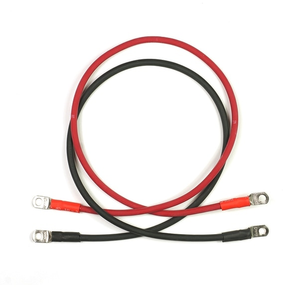 """72"""" Red & Black Flexible Copper Welding Cables for RV, Car, Motorcycle - Red and Black"""