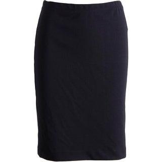 Grace Elements Womens Pencil Skirt Matte Jersey Elastic Waist - XS