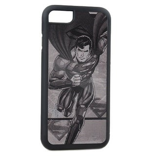Superman Running Pose Shield Brushed Silver Cellphone Case iPhone6 Rubber Case