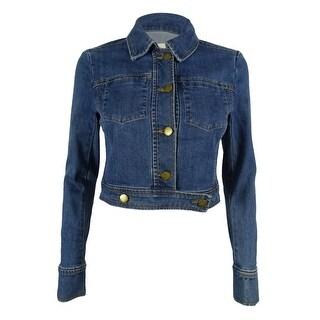 Rachel Roy Women's Cropped Denim Jacket