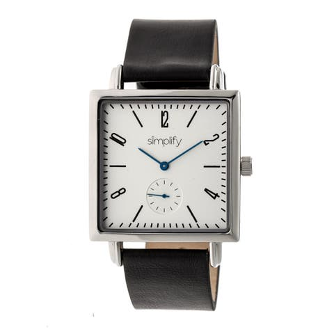 Simplify The 5000 Unisex Quartz Watch, Genuine Leather Band