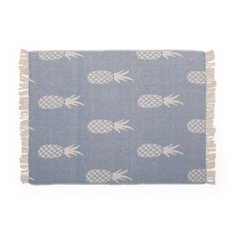 Fleming Boho Handcrafted Cotton Throw Blanket by Christopher Knight Home