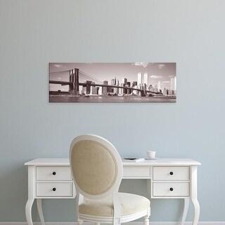 Easy Art Prints Panoramic Images's 'Brooklyn Bridge, Hudson River, NYC, New York City, New York State, USA' Canvas Art